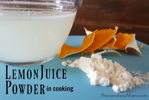 Lemon juice powder is a kitchen standby for any pantry. It gives you the ability to add a punch of lemon flavor to any recipe you are creating   PreparednessMama