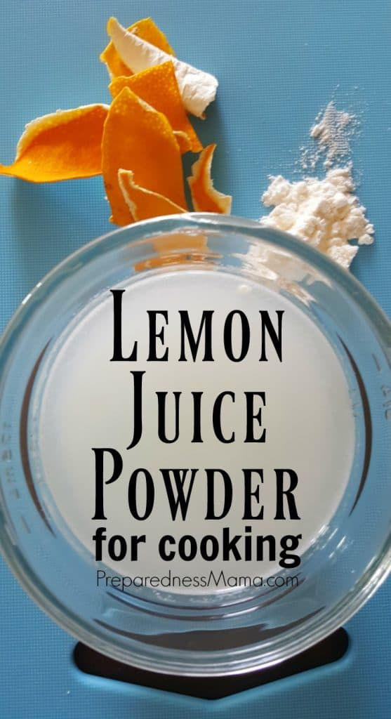 Lemon juice powder is a kitchen standby for any pantry. It gives you the ability to add a punch of lemon flavor to any recipe you are creating | PreparednessMama