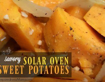 Savory Solar Oven Sweet Potatoes