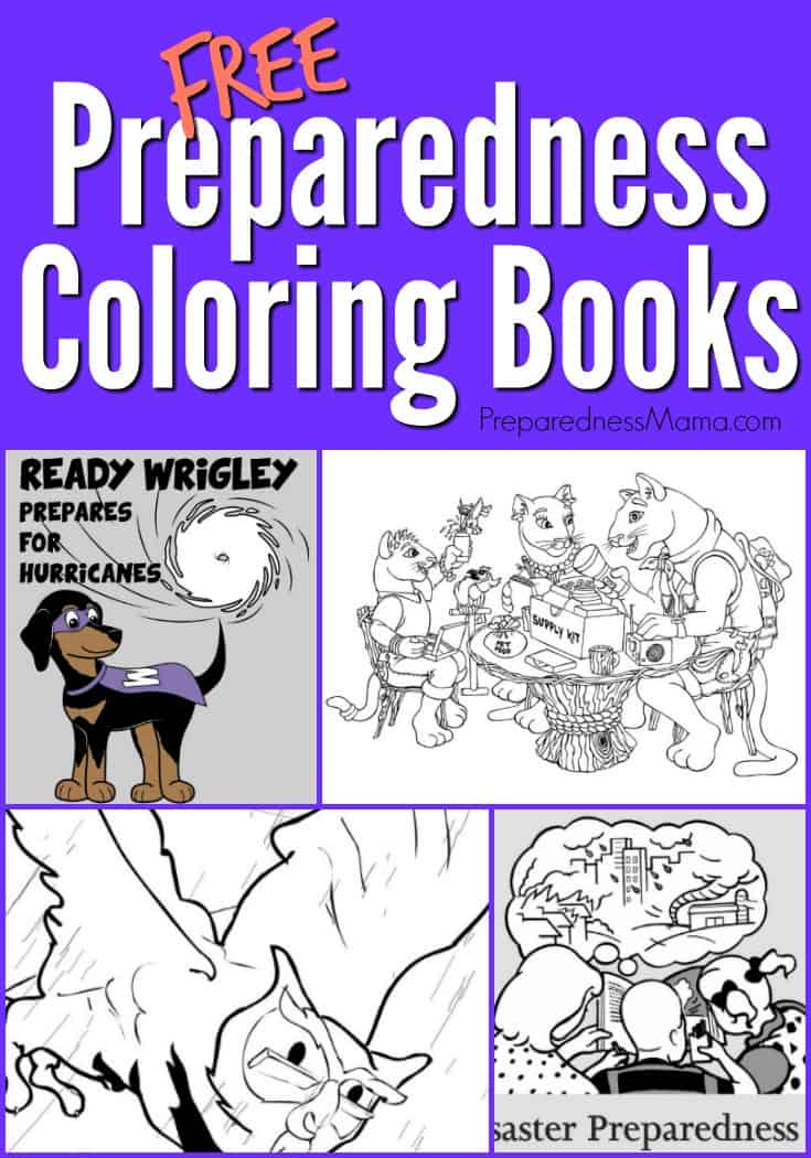 If Coloring Is A Favorite Family Pastime Then Print Few Of These Free Preparedness