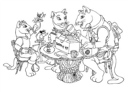 The lion family Preparedness Coloring Book | PreparednessMama