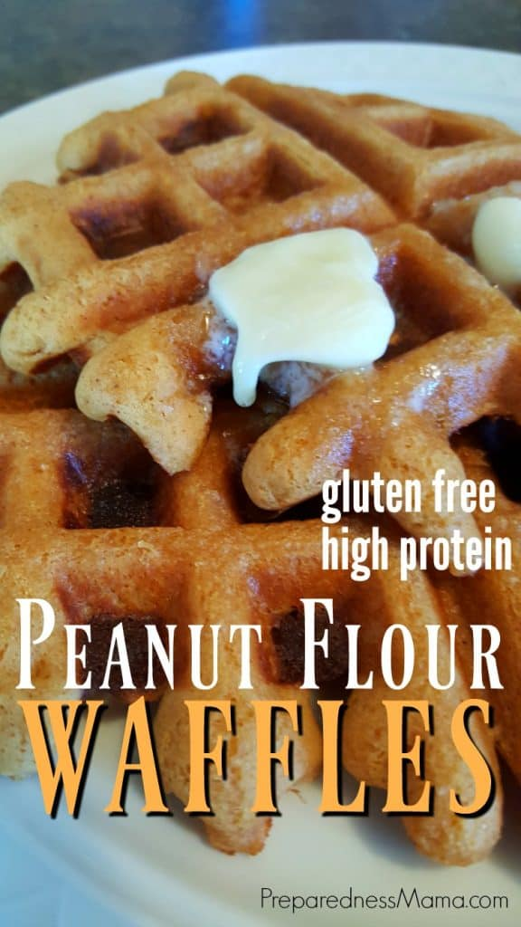 Cooking with peanut flour - Peanut Flour Waffles are a tasty treat | PreparednessMama