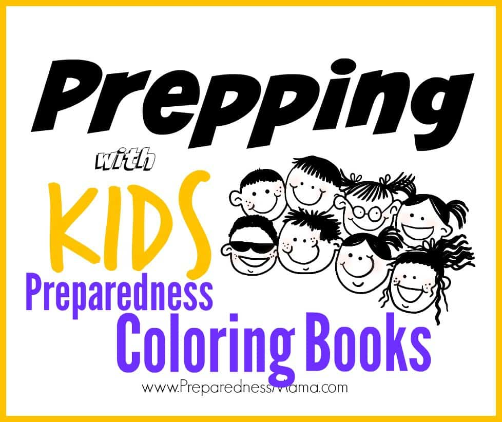 Prepping With Kids Preparedness Coloring Books