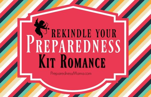 Rekindle your preparedness kit romance. Get your 72-hour kit out of the closet, brush off the dust. Bring it back to the way things used to be | PreparednessMama