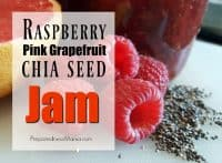 Raspberry pink grapefruit chia seed jam is a wonderfully tart jam that works well on your morning toast or yogurt. Try this naturally healthy recipe | PreparednessMama
