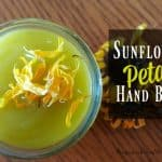 DIY Sunflower Petal Hand Balm