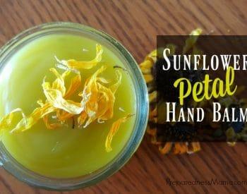 DIY Sunflower Petal Hand Balm