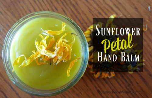 Sunflower petal hand balm is delightful. After long winter months, your skin may be craving additional moisture. Use this balm to heal and soothe your skin. | PreparednessMama