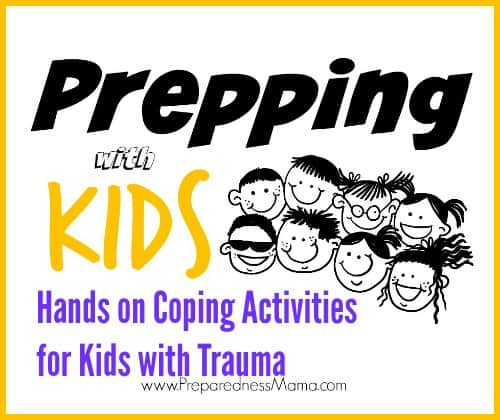 Hands on coping activities for kids with trauma. Try implementing these 5 tips on a daily basis or add them to your regular routine as-needed basis | PreparednessMama