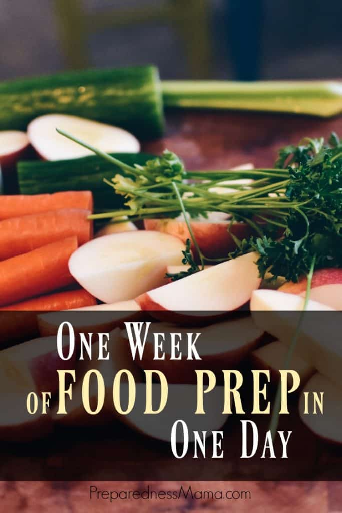 Cooking from scratch is the best way to save money in your family budget. If you can do one week of food prep in one day you will be ahead of the game | PreparednessMama