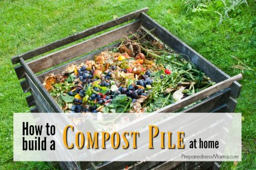 One of the easiest projects that you can do when it comes to gardening is to build a compost pile. It is also one of the most important parts of your garden | PreparednessMama