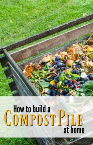how to build a compost pile at home
