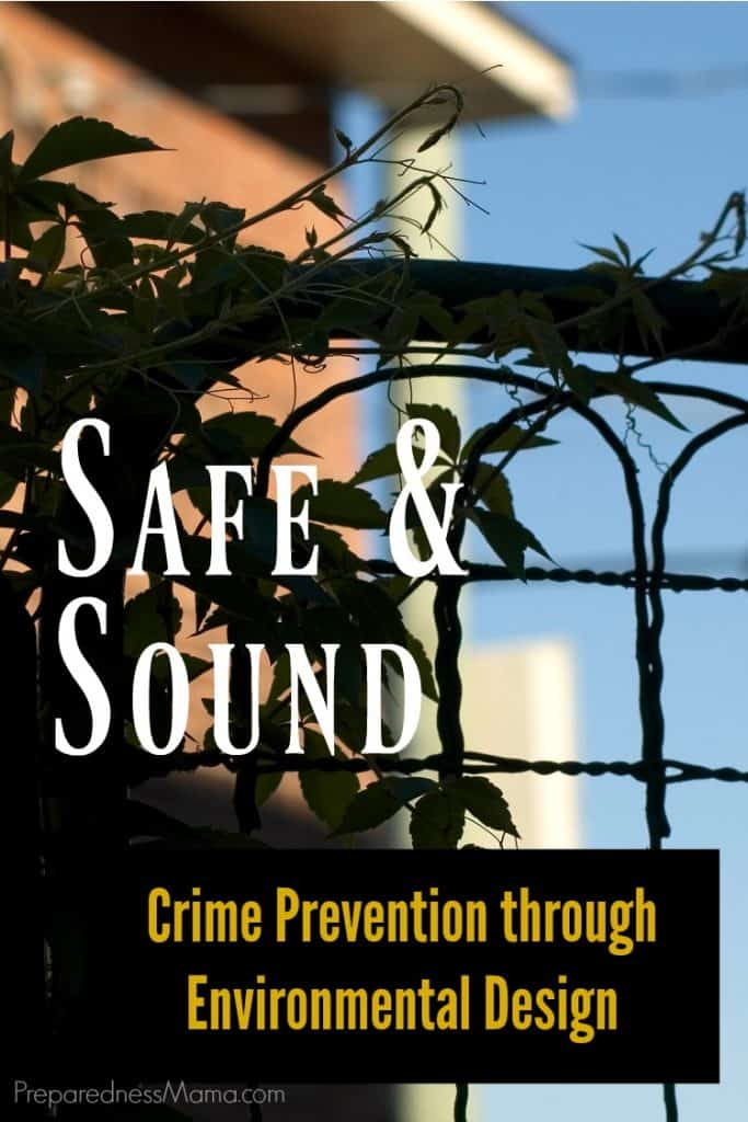Crime prevention through environmental design. While not a cure-all, these principles are simple guidelines for decreasing the likelihood a criminal will find your home inviting | PreparednessMama