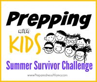 While parents try to survive the roller coaster of summer break, you can channel your kid's competitive side with this fun summer survivor challenge! | PreparednessMama