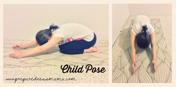 Child Pose, Prepping with kids: Yoga for stress relief | PreparednessMama