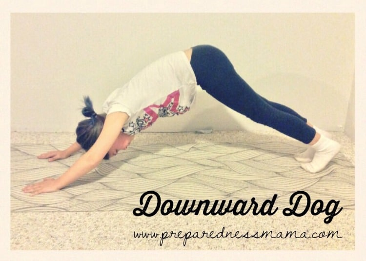 Downward Dog, Prepping with kids: Yoga for stress relief | PreparednessMama