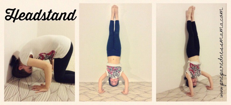 Head Stand Prepping with kids: Yoga for stress relief | PreparednessMama