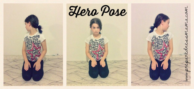Hero Pose, Prepping with kids: Yoga for stress relief | PreparednessMama
