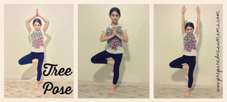 Tree Pose, Prepping with kids: Yoga for stress relief   PreparednessMama