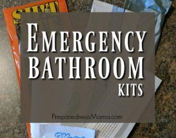 Emergency Bathroom Kits