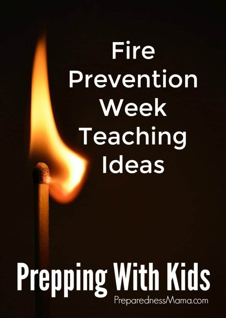 Fire Prevention Week is an excellent way to thoughtfully teach your kids about fire safety. Get free resources in this post | PreparednessMama
