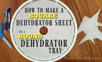 Sometimes you need to improvise to get the job done. Need to make a square dehydrator sheet fita roundtray? It's no problem with this trick | PreparednessMama