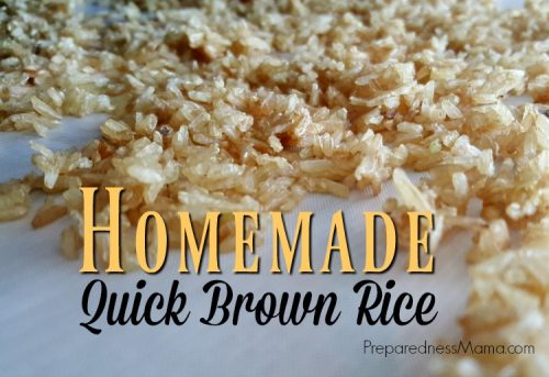 Take a little time to prepare brown rice now. It will save time and effort at dinner preparation and you'll have healthy rice on the table in as little as 15 minutes | PreparednessMama