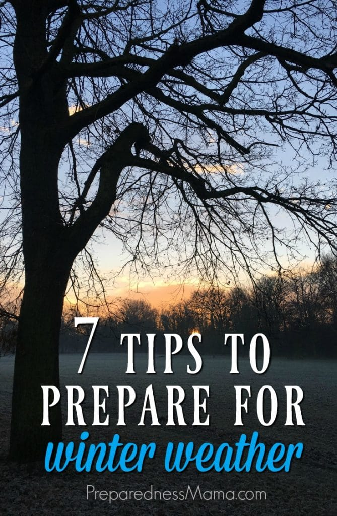 These 7 ideas to prepare for winter weather will make you merry and bright! They provide safety, security, and peace of mind so you can focus on family | PreparednessMama.com
