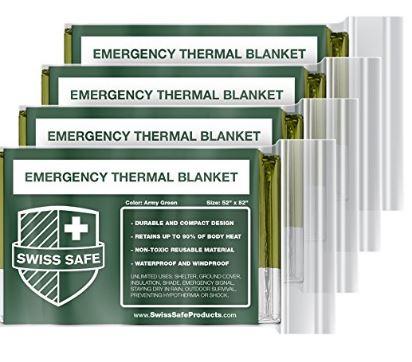 Emergency Mylar Thermal Blankets outdoor survival gear