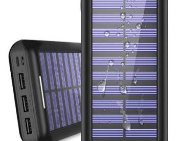 Portable Charger 24000mAh Solar Power Bank outdoor survival gear