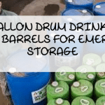 55 Gallon Drum Drinking Water Barrels For Emergency Storage