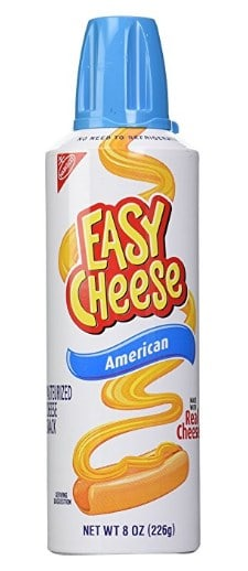 Easy Cheese canned cheese