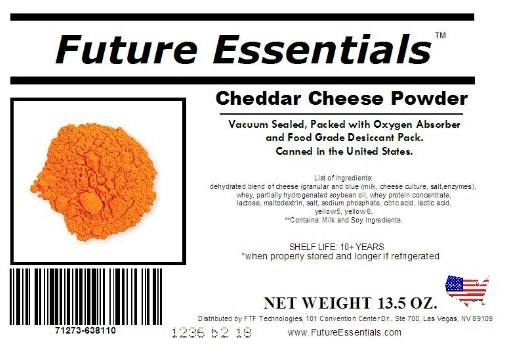 Future Essentials canned cheese