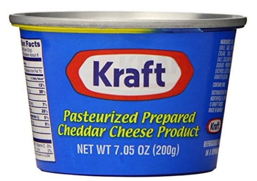 Kraft canned cheese