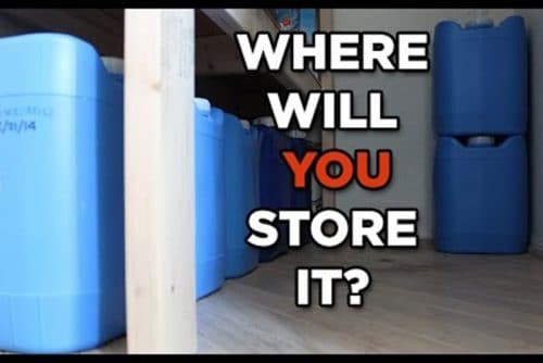 where to store water