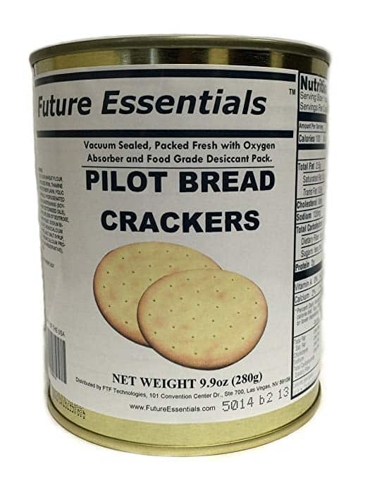 product photo of pilot bread crackers made by Future Essentials