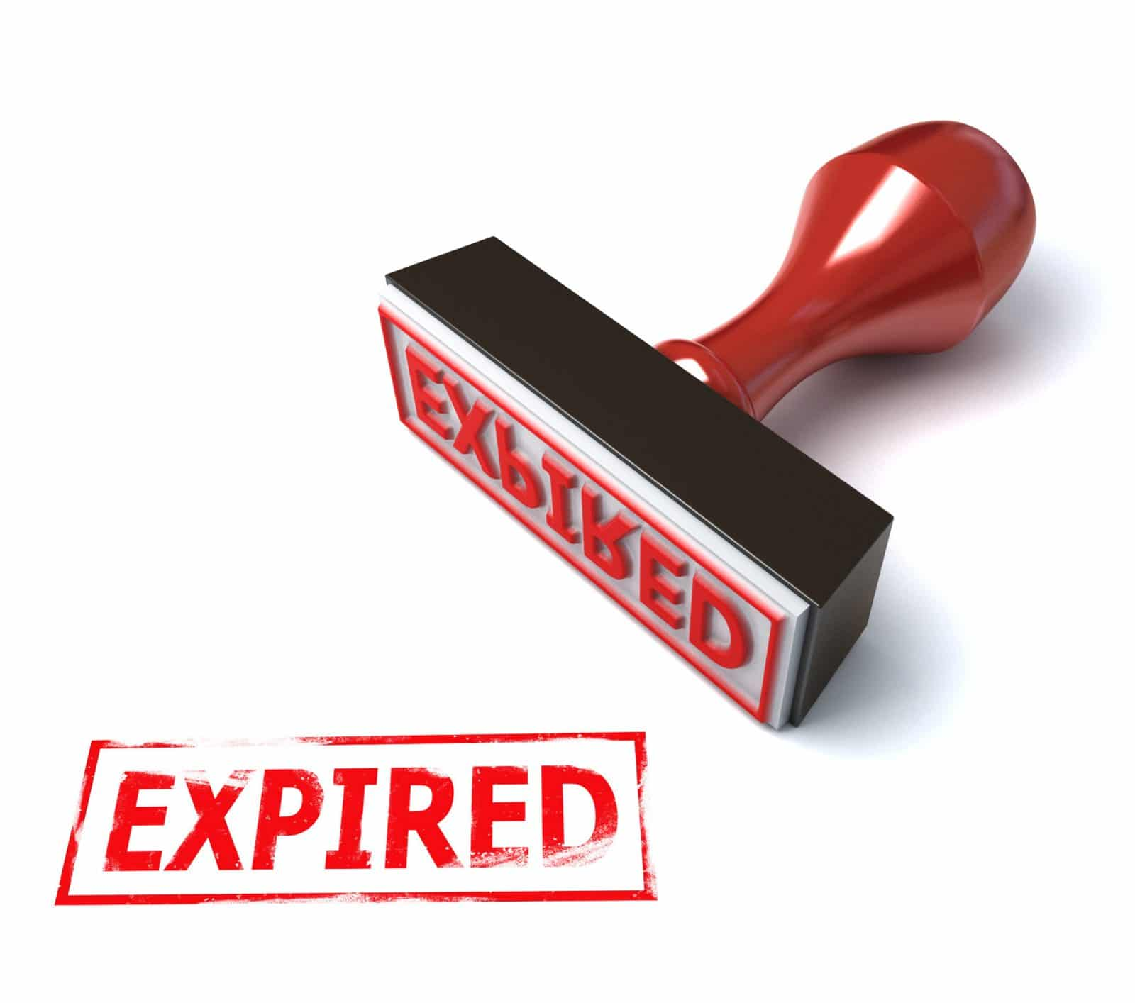 "red stamp with words ""Expired"""