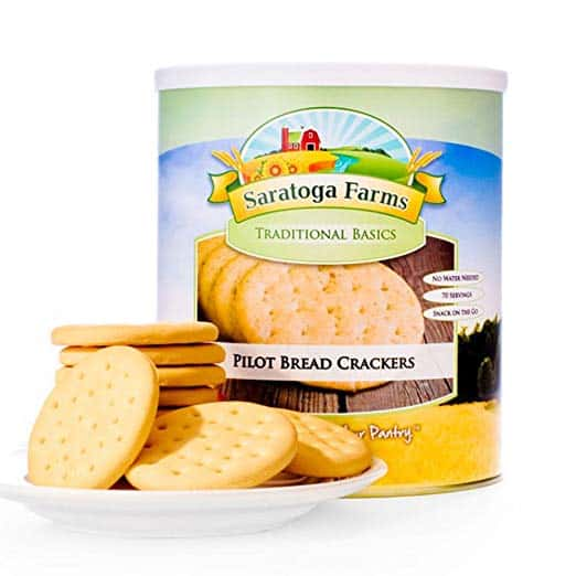 product photo of pilot bread crackers made by Saratoga Farms