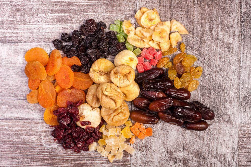 overlay photo of freeze dried fruits