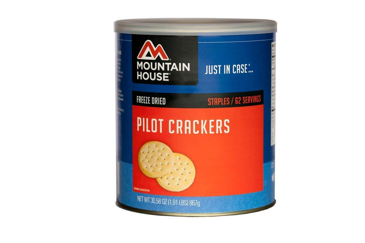 product photo of pilot bread crackers made by mountain house
