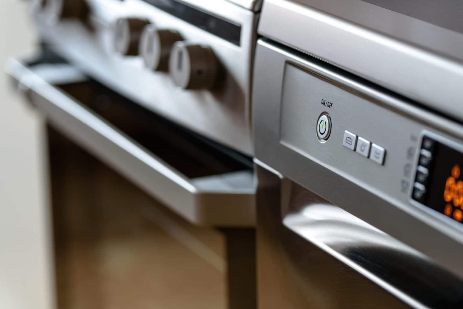 close-up photo of a modern oven which can be used to bake pilot bread crackers