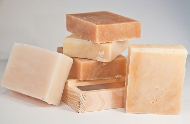 handmade organic soap infused with pine sap