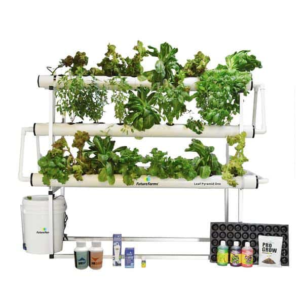 a complete kit of hydroponic system