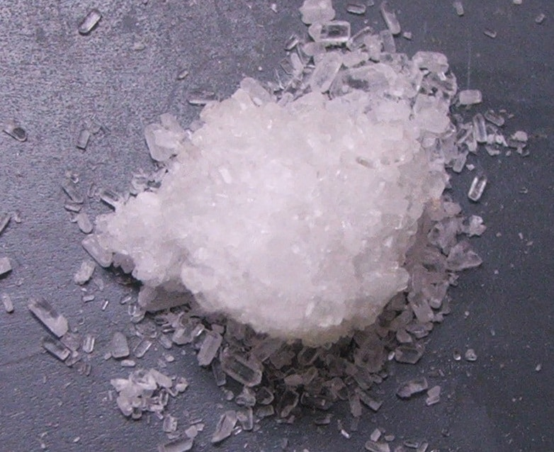crystals of magnesium sulfate