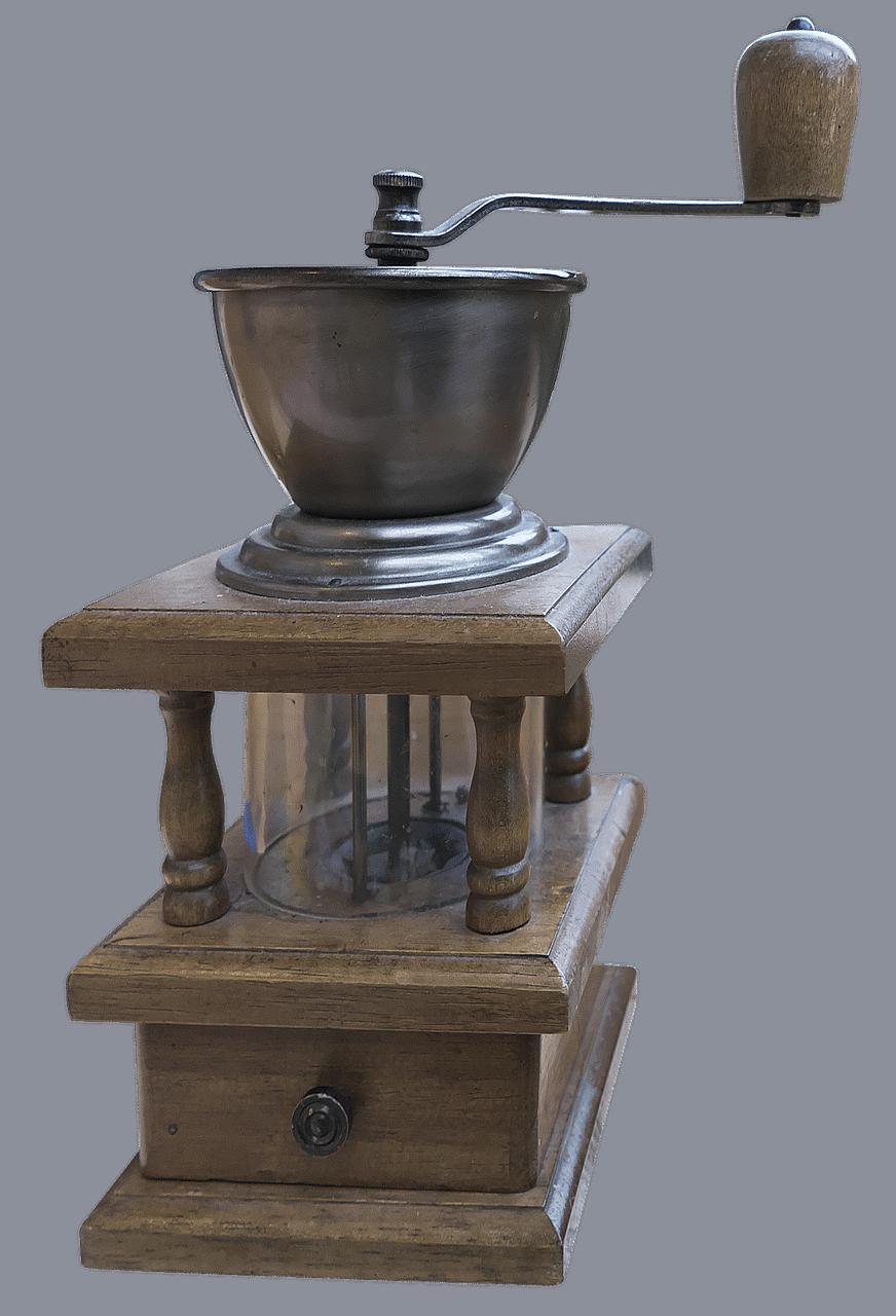 an antique hand grain mill