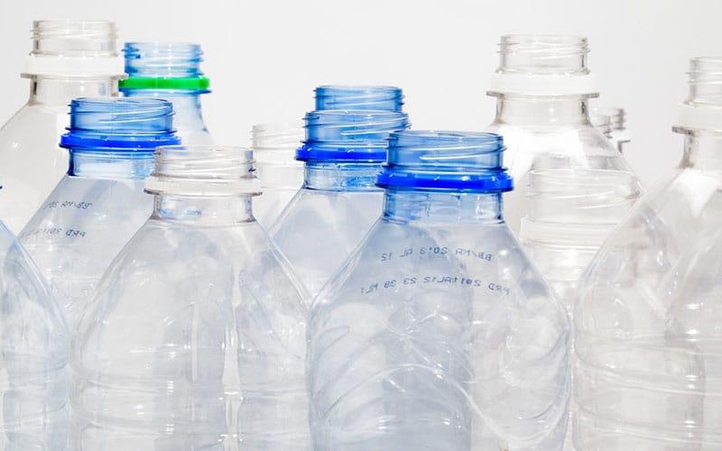 used water bottles