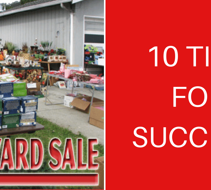 10 Killer Tips For An Awesome Yard Sale